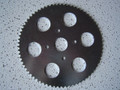 New 72t Zinc Plated Steel Sprocket with Lightning Holes 4 Bolt Pattern #35 Chain