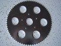 New 72t Zinc Plated Steel Sprocket with Lightning Holes 5 Bolt Pattern #35 chain