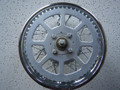 "NOS 10"" Rear Chromed Spoke Wheel with Brake and Sprocket"