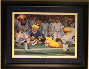 """The Catch"" Autographed Desmond Howard Print Framed"