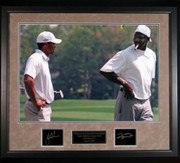 Tiger Woods and Michael Jordan 16x20 Photo Framed