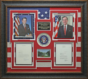 Ronald Reagan & George Bush Presidential Display