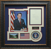 Ronald Reagan Autographed Presidential Display