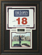 Arnold Palmer Signed 1995 Open Championship Flag