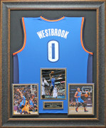 Russell Wesbrook Autographed Jersey Framed