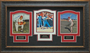 Steve Carlton, Pete Rose, & Mike Schmidt Signed Photo Framed