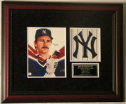 Don Mattingly Autographed 8x10 Print Framed W/ Yankees Logo