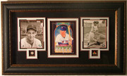 Ted Williams Autographed Donruss Diamond Kings Print Custom Framed