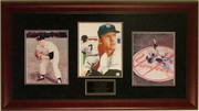 Mickey Mantle Autographed 8x10 Print Framed W/2 Additional Photos