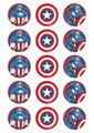 Captain America - Standard licensed cupcake toppers