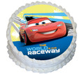 Lightning McQueen 16cm Round licensed topper