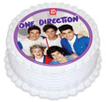One Direction 16cm Round licensed topper
