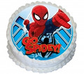 Spiderman001 16cm Round licensed topper