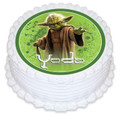 Yoda 16cm Round licensed topper