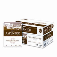 Boise Aspen 100% Recycled Multipurpose Paper  , 8 1/2'' x 11'', 20 lb,  Carton/5,000 Sheets