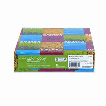Mohawk Color Recycled Copy Paper 8 1/2'' x 11'', 28 lb Bond