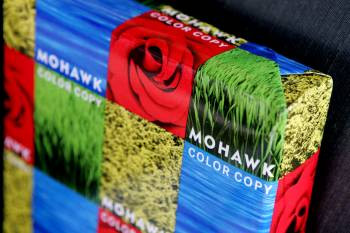 Mohawk 100% Recycled Color Copy Paper 11'' x 17'', 80 lb Cover