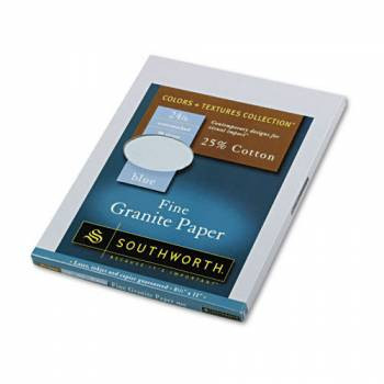 Southworth Fine Granite Paper, Letterhead, BLUE 50% Post Consumer Recycled