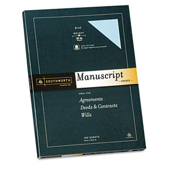 Southworth Credentials Collection Fine Recycled Paper, BLUE 50% Post Consumer Recycled
