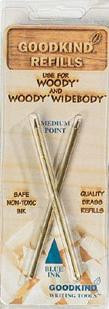Goodkind Refills for Woody and Woody Widebody Recycled Pens, Medium Tip
