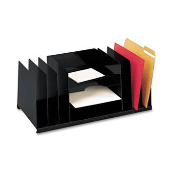 Steelmaster Desk Organizer, 9 Sections, Steel, Black