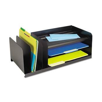 Steelmaster Legal-Size Desk Organizer, 7 Sections, Steel, Silver