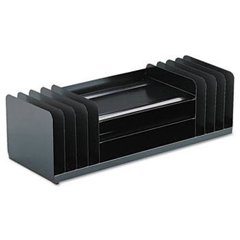 Steelmaster Jumbo Desk Organizer for Large Forms, 11 Sections, Steel, Black
