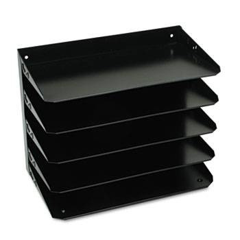 Steelmaster Legal Paper Organizer, 5 Tier, Steel, Black