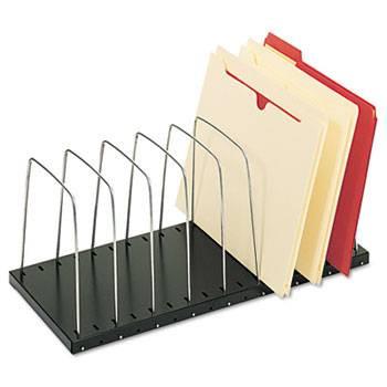 Steelmaster Wire Desktop Organizer, 8 Sections, Black/Silver