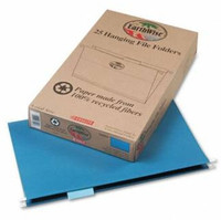 Earthwise Recycled Hanging File Folders, Legal Size, 1/5'' Cut Top Tab, 25/Box