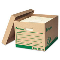 Universal Recycled Record Storage Box, Letter/Legal Size, 10w X 12h X 15d, 100% PCR, Carton/4 Boxes