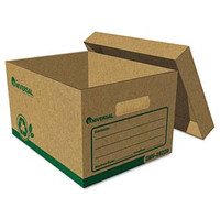 Universal Recycled Record Storage Box, Letter Size 12w X 24h X 10d, 100% PCR, Carton/12 Boxes