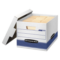 Banker's Box Quick/Stor File Box, Letter/Legal Size 12w X 10 1/4h X 15 1/4d, 35% PCR, Carton/12 Boxes