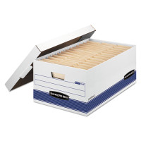 Banker's Box FastFold Stor/File Lid Box, Legal Size, 15w X 10h X 24d, 59% PCR, Carton/12 Boxes