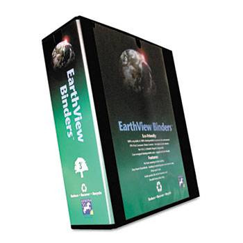 Earthview D-Ring Recycled Presentation Binder 3' Black