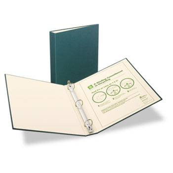 Avery Recyclable Ring Binder with EZ-Turn Rings, 1'' Green