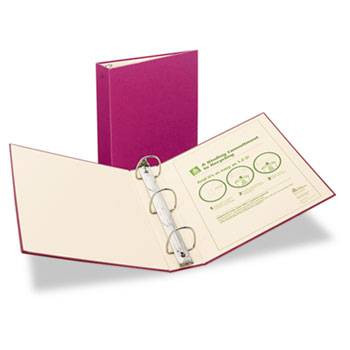 Avery Recyclable Ring Binder with EZ-Turn Rings, 2'' Red