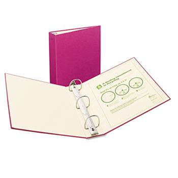 Avery Recyclable Ring Binder with EZ-Turn Rings, 3'' Red