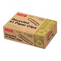 Acco Recycled Paper Clips, No. 1 Size