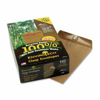 9x12 Envirotech Clasp Envelope, 60 lb., Side Seam, Natural Brown, 110/Box
