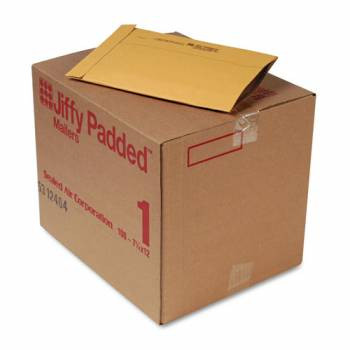 Recycled Jiffy Padded Mailers, Bulk Carton, 7-1/4 x 12 Plain Flap