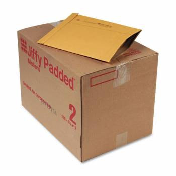 Jiffy Padded Mailers, Bulk Carton,  8-3/8 x 10-3/4 Plain Flap