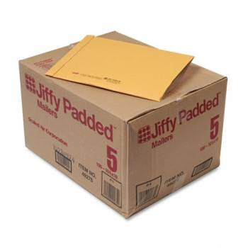 Jiffy Padded Mailers, Bulk Carton,  10-3/8 x 14-3/4 Plain
