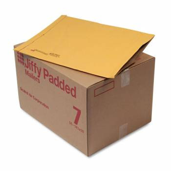Jiffy Padded Mailer, Bulk Carton,  14-1/8 x 18-3/4 Plain Flap