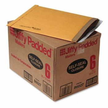 Jiffy Padded Mailer, Bulk Carton,  12-3/8 x 17-3/8, Self Seal