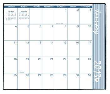 House of Doolittle (HOD24007) Monthly Pocket Secretary, BLUE 3-5/8 x 6-1/2