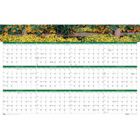 House of Doolittle (HOD394) Earthscapes Gardens of the World Yearly/Erasable Laminated Planner 24 x 37