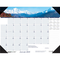 House of Doolittle (HOD1766) Earthscapes Mountains of the World Desk Pad 18-1/2 x 13