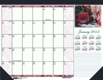 House of Doolittle (HOD179) Earthscapes Rose Desk Pad 22 x 17