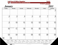 House of Doolittle Custom-Printed Desk Pad Calendar (Ordering Minimum is 250) -1